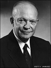 President Dwight D Eisenhower in 1955. Image: Getty/Hulton Archive
