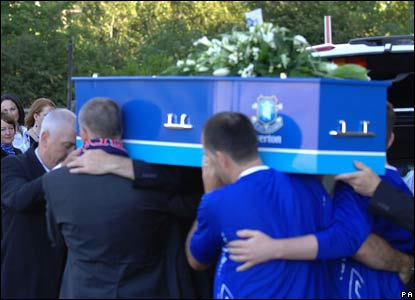 Rhys Jones' coffin