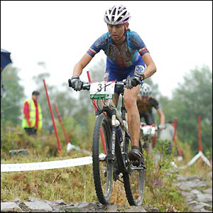 Jitka Skarnitzlova tackles the tough terrain