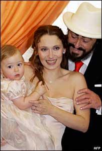 Лучано Паваротти со второй женой Николеттой Мантовани