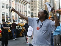 Taxi picket in New York