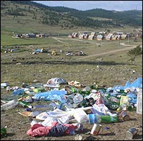 Rubbish on Olkhon island