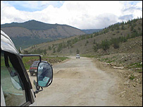 Rough road near Lake Baikal