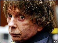Phil Spector in court