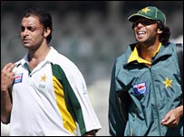 Shoaib Akhtar and Mohammad Asif