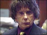 Phil Spector in court on Thursday