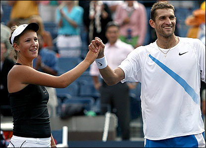 Belarussian duo Max Mirnyi and Victoria Azarenka
