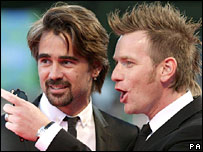 Colin Farrell (l) and Ewan McGregor