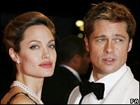 Brad Pitt and Angelina Jolie, at the Venice Film Festival