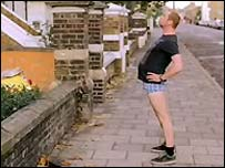 Simon Pegg in Run, Fatboy, Run