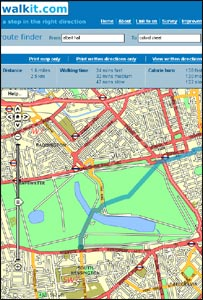 Walkit.com map (Image: Walkit)