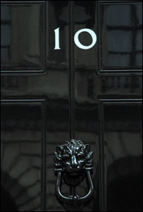 Downing Street door, BBC