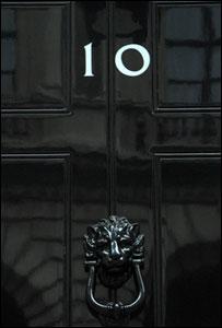 Downing Street door, BBC
