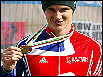 Britain's David Fletcher with his bronze medal
