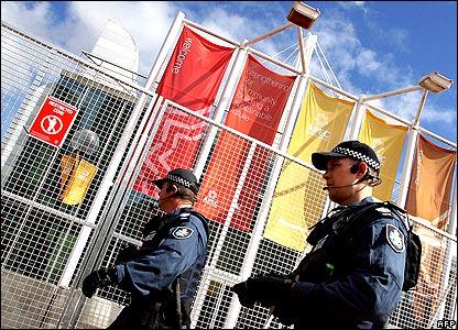 Police patrolling in Sydney