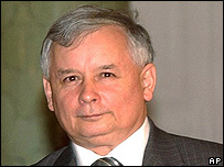 Polish Prime Minister Jaroslaw Kaczynski