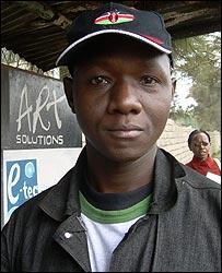 Kenyan cartoonist Humphrey Barasa