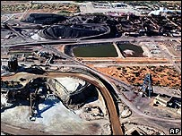 Uranium mine near Adelaide