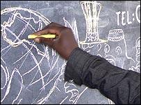 Kenyan Humphrey Barasa drawing