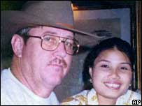 Paul Johnson pictured with his wife Noom