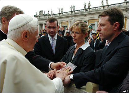 Kate and Gerry McCann meeting the Pope