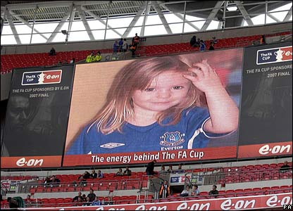 Madeleine McCann appeal at FA Cup final