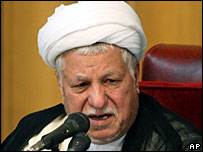 Akbar Hashemi Rafsanjani, head of Iran's Assembly of Experts