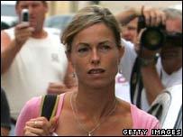 Kate McCann llega a la estación de policía este viernes