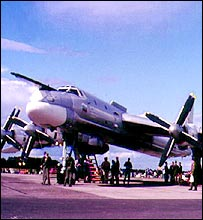 Tu-95 bomber on the ground