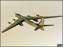 Tupolev Tu-95 seen from above