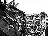 Bombed US marines barracks in Beirut, 1983