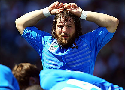Italy's Martin Casrogiovanni tries to comprehend the opening half hour in Marseille