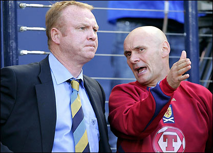 Scotland boss Alex McLeish plots a way through the Baltic side's defence