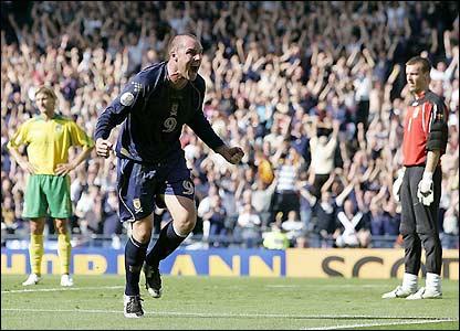 Boyd celebrates the opening goal