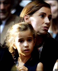 Pavarotti's daughters Alice (L) and Cristina.