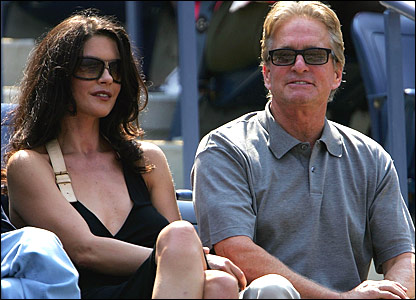 Catherine Zeta-Jones and her husband Michael Douglas