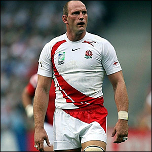 Lawrence Dallaglio heads off for a spell in the sin bin