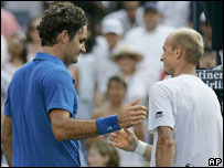 Roger Federer y Nikolay Davydenko