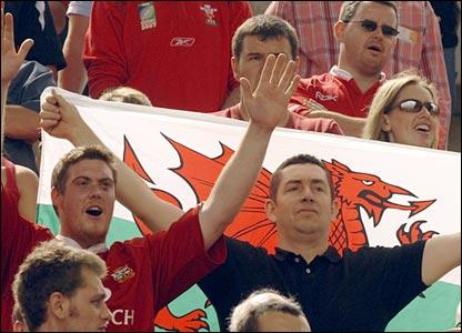 Wales fans in Nantes