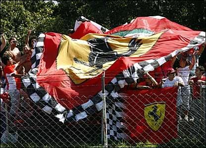 Ferrari fans at Monza