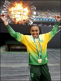 Star of the Brazil women's team, Marta
