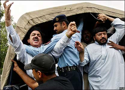 Sharif supporters being rounded up