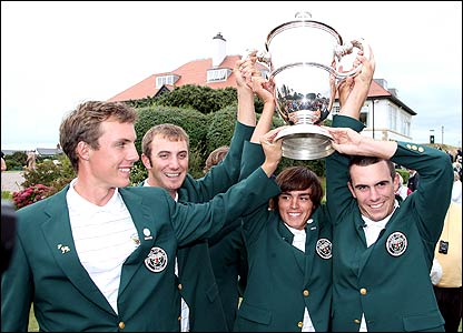 Jamie Lovemark, Dustin Johnson, Rickie Fowler and Billy Horschell