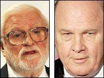 Leeds chairman Ken Bates and former Newcastle chairman Freddy Shepherd