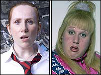 Catherine Tate as Lauren and Matt Lucas as Vicky Pollard