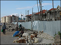Poor street scene in Addis