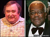 Bernard Manning and Sir Trevor McDonald