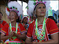 The Amis tribe during a daylily festival