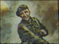 Painting of Sir Tasker at war