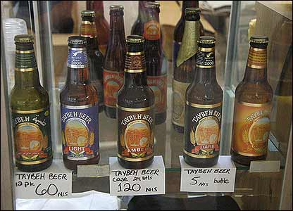 Taybeh beer bottles (Photo: Martin Asser)